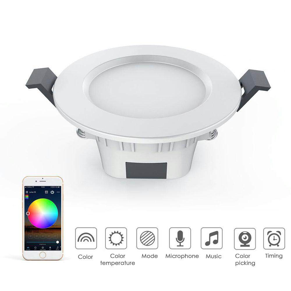Bsex high temperature resistant 1 pc multi-function smart downlight Wifi home application remote control white light and warm light intelligent dimming light