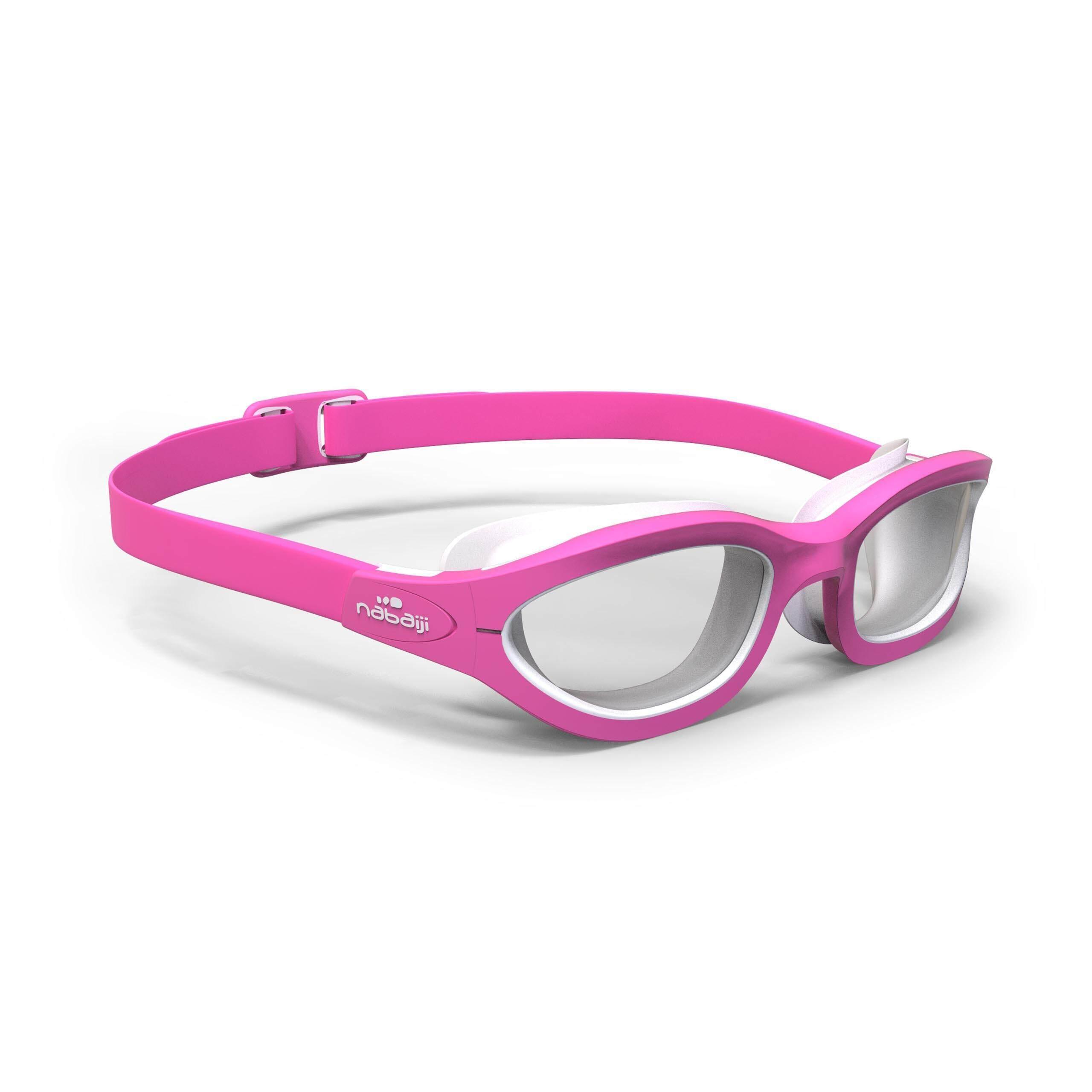 [ด่วน!! โปรโมชั่นมีจำนวนจำกัด] แว่นตาว่ายน้ำรุ่น 100 EASYDOW ขนาด S (สีชมพู) สำหรับ ว่ายน้ำ