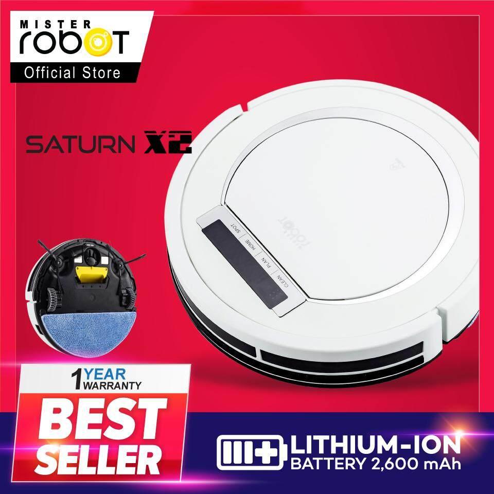 จะซื้อ  Mister Robot หุ่นยนต์ดูดฝุ่น รุ่น SATURN X2 (สีขาว) มีส่วนลด