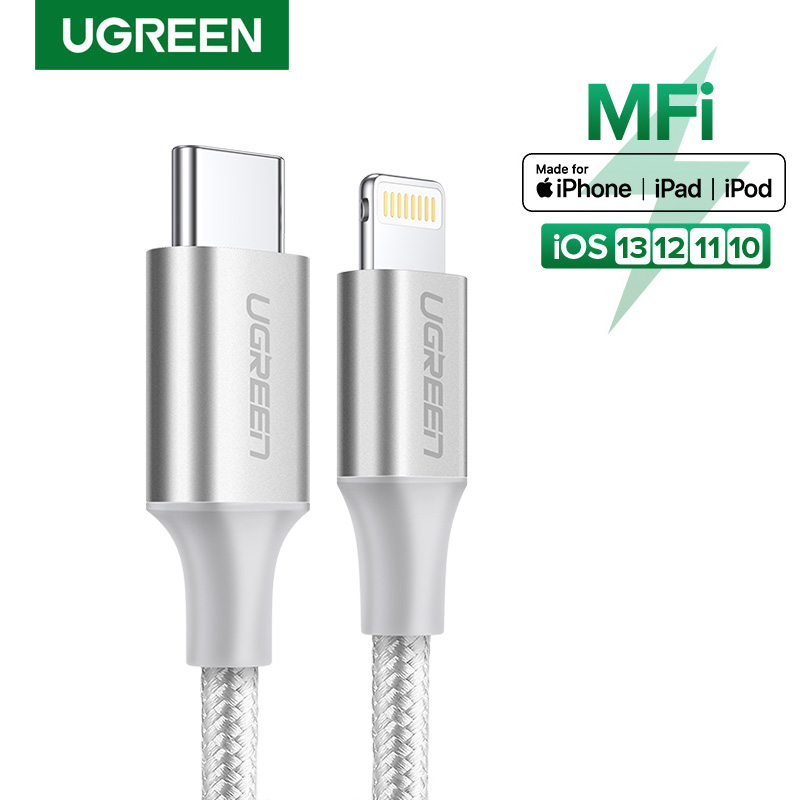 【certified By Apple】ugreen Usb C To Lightning Cable Nylon Braided 20w Fast Pd Charge For Iphone12 12 Pro, Iphone 11 Pro Max, 11 Pro 11 X Xs Xr Xs Max 8, Ipad Pro 10.5 /12.9.