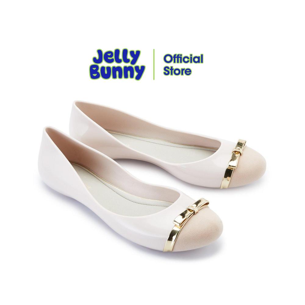 Jelly Bunny รุ่น Melina Dual รองเท้าส้นแบน รองเท้าบัลเล่ต์ รองเท้าหุ้มส้น รองเท้าแฟชั่น รองเท้าผู้หญิง รองเท้า เจลลี่ บันนี่.