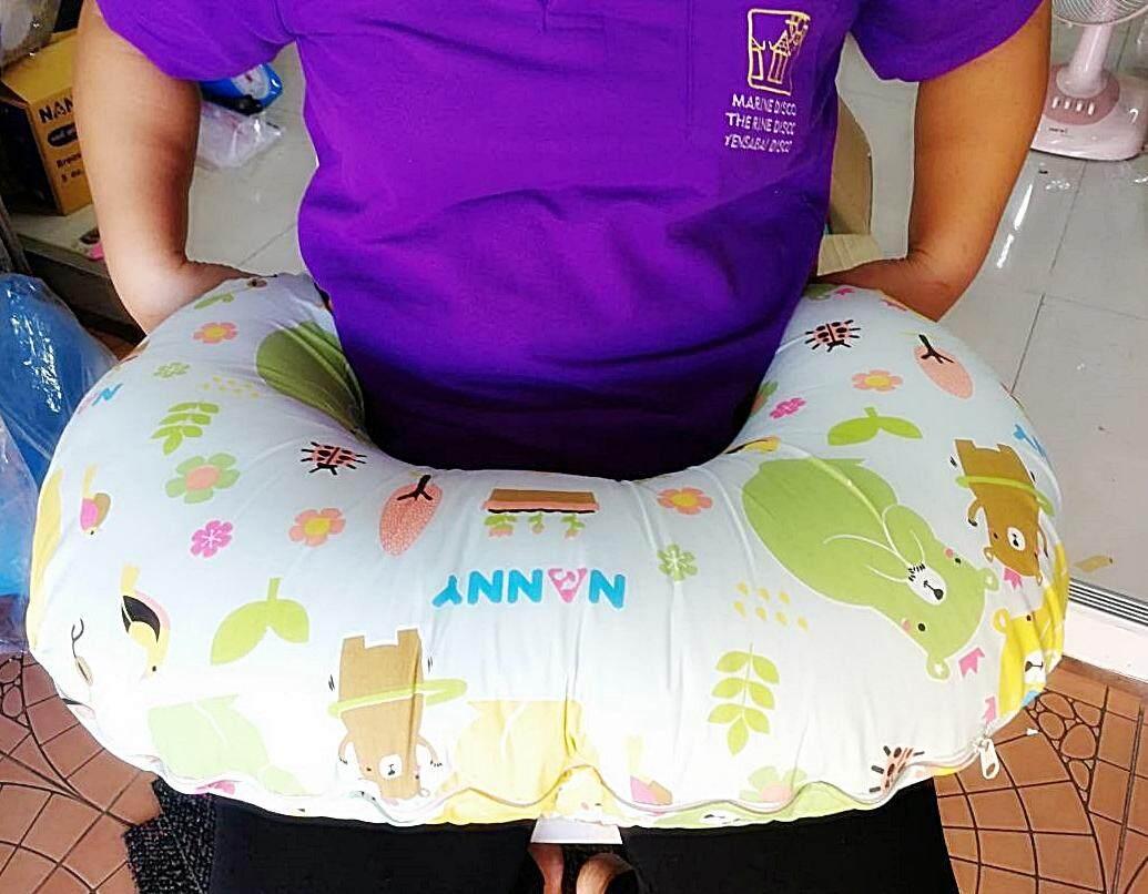 Nanny หมอนรองให้นมลูก Breastfeeding Pillow ใบใหญ่ เข้ารอบเอวได้กระชับ หนาๆ นุ่มๆ แน่นๆ ซื้อหมอนรองให้นมลูก ใน Lazada ถูกที่สุด By Urbabyshop.