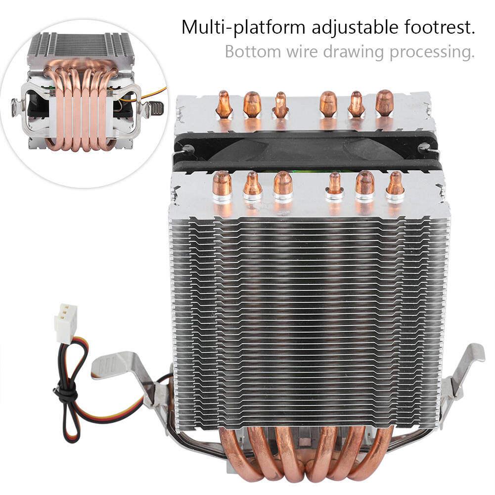 พัดลม Cpu ของคอมพิวเตอร์ Cooler Heat Sink 6 Heatpipe สำหรับ Intel Lga 1156/1155/1150/775.