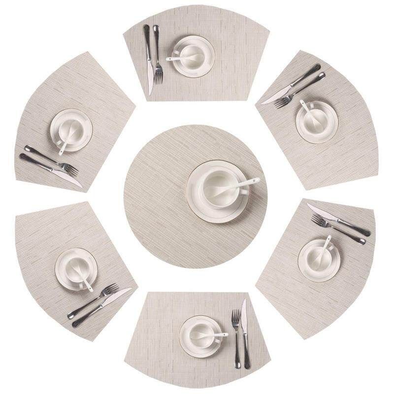 Round Table Mat Non-Slip Insulation Bamboo Pattern Placemat Heat Resistant Table Mat