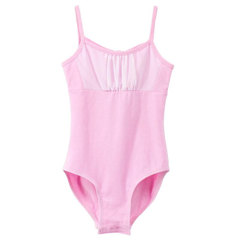 Siêu Tiết Kiệm Khi Mua Children'S Dance Clothes Sling Girls Ballet Mesh Stitching Practice Jumpsuit Pink Open Dance Dress-120
