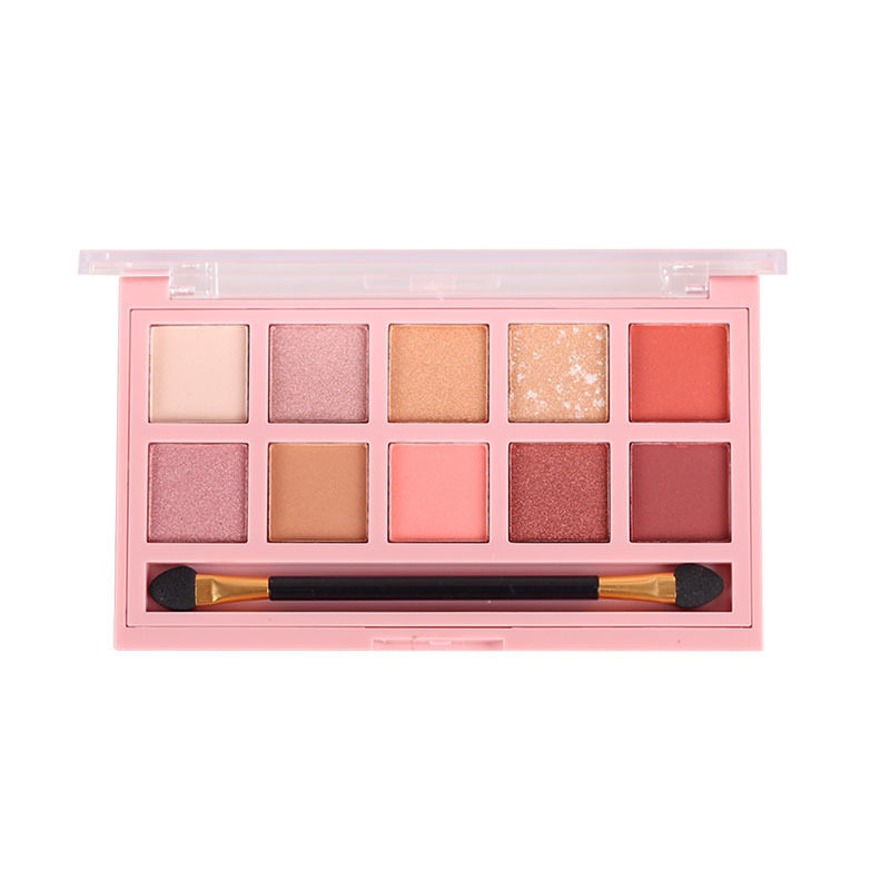 อายแชโดว์พาเลท กันน้ำ Anylady Makeup Pearlescent Matte Ten-Color Eye Shadow Waterproof Pumpkin Color Earth Color Eye Shadow Tray.
