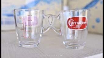 ถ้วยแก้วตวงคาร์เนชั่น ขนาด 8 ออนซ์ (ได้ 5 ใบ)