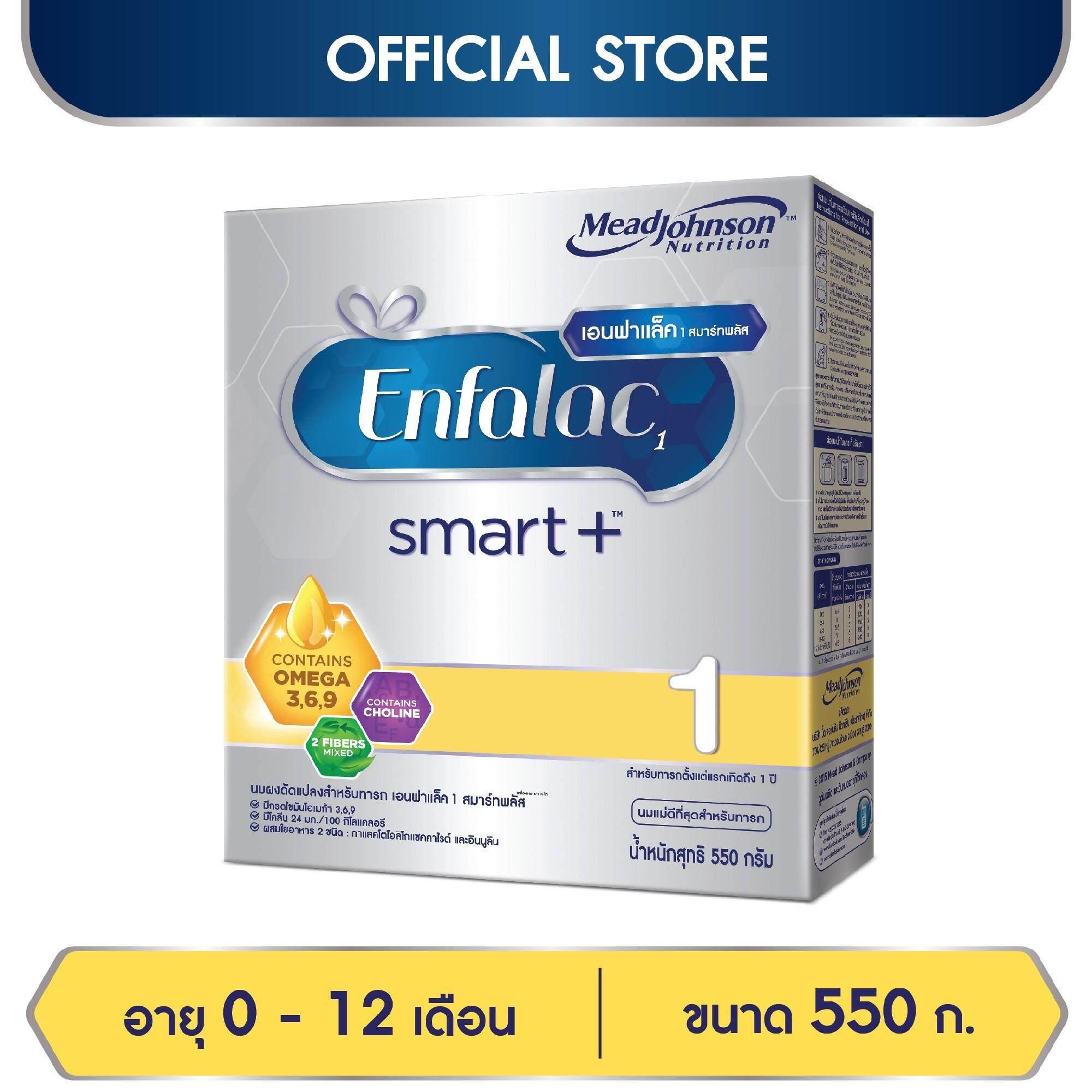 ซื้อ  นมผง Enfalac เอนฟาแล็ค สมาร์ทพลัส สูตร 1 สำหรับ ทารก เด็กแรกเกิด เด็กเล็ก 550 กรัม   สำหรับขาย ของแท้