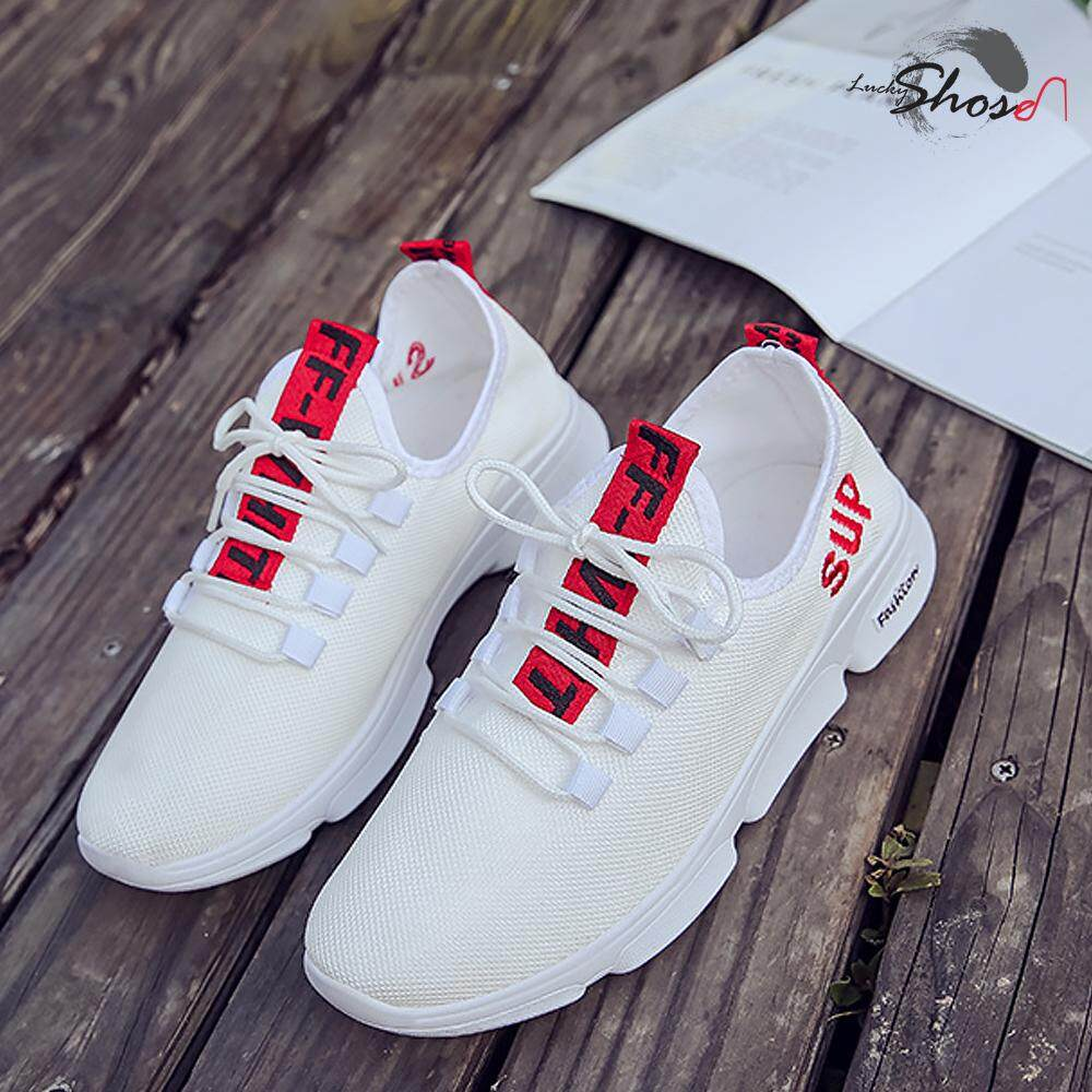 LuckyShoes มี 3 สี ให้เลือก รองเท้าผ้าใบผู้ชาย Sup สินค้าตัวใหม่2018