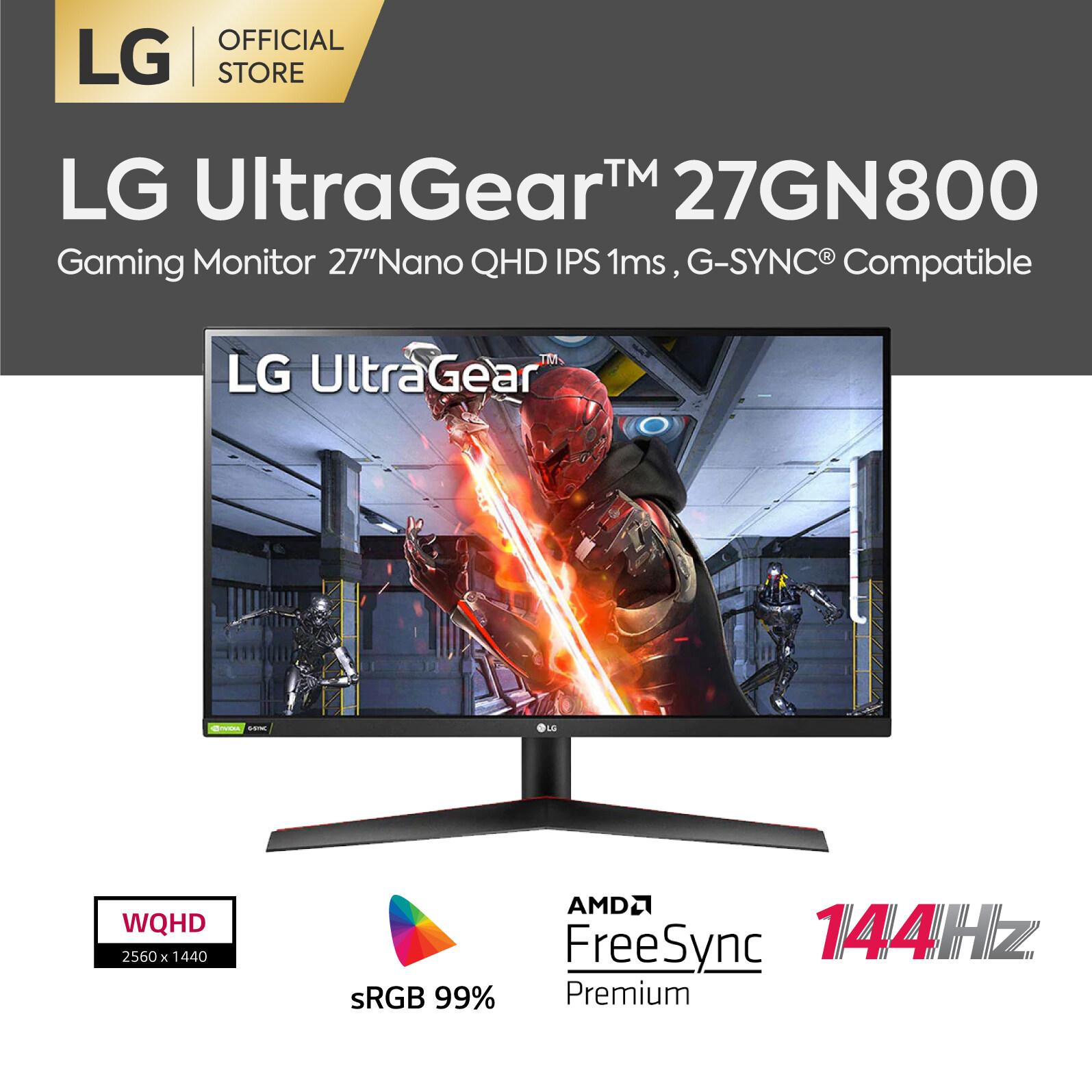 Lg จอมอนิเตอร์ 27 นิ้ว 27gn800 ความละเอียด Qhd (2560 X 1440) Ips 1 Ms, 144hz, Hdr10 With G-Sync Compatible, Amd Freesync™ Premium (จอคอมพิวเตอร์).
