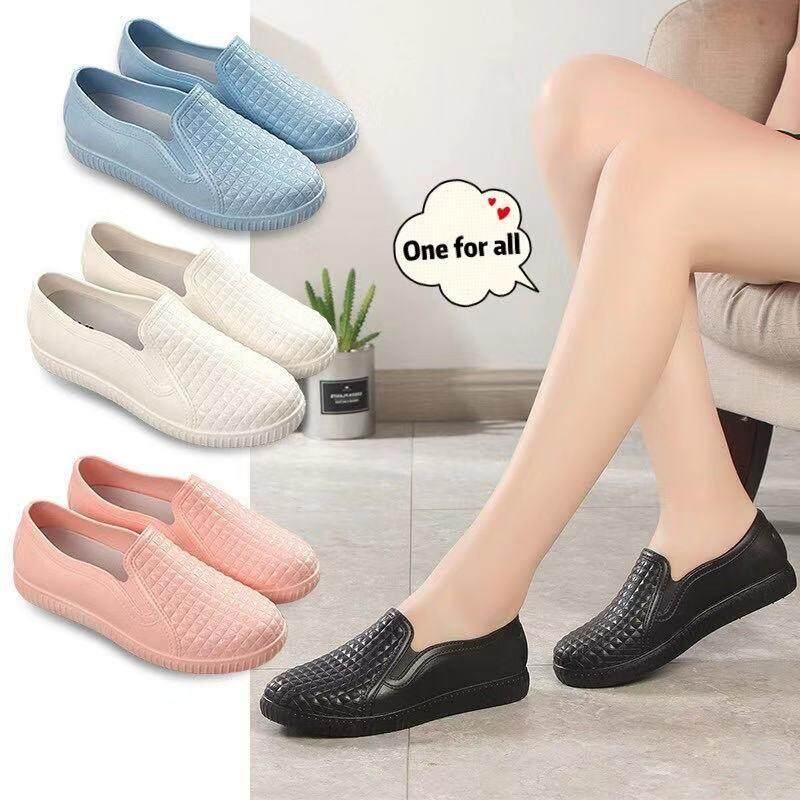 [ มี 4 สีให้เลือก ] พร้อมส่ง รองเท้าผ้าใบยาง รองเท้าแฟชั่น ใส่เล่นน้ำได้ รุ่น Tx68.