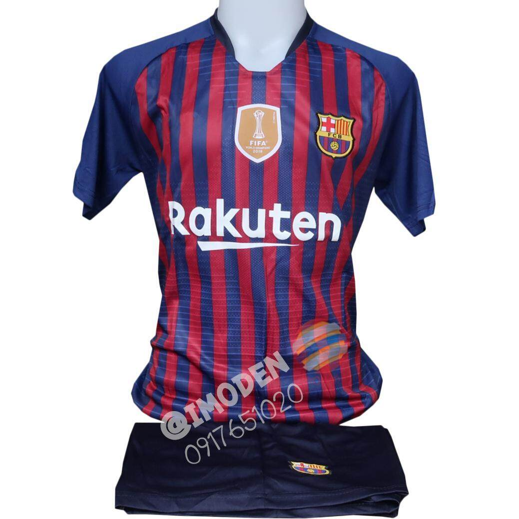 ชุดฟุตบอล Imoden (เสื้อฟุตบอล+กางเกงฟุตบอล) ผู้ใหญ่ สีน้าเงิน Bar001 By Imoden.