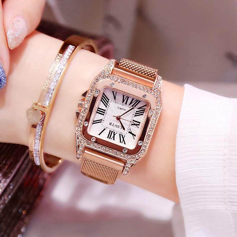 Jam tangan wanita perempuan dalam angin Tahan Air modis 2019 model baru Gaya Korea Tren minimalis casual merah Model Sama murid