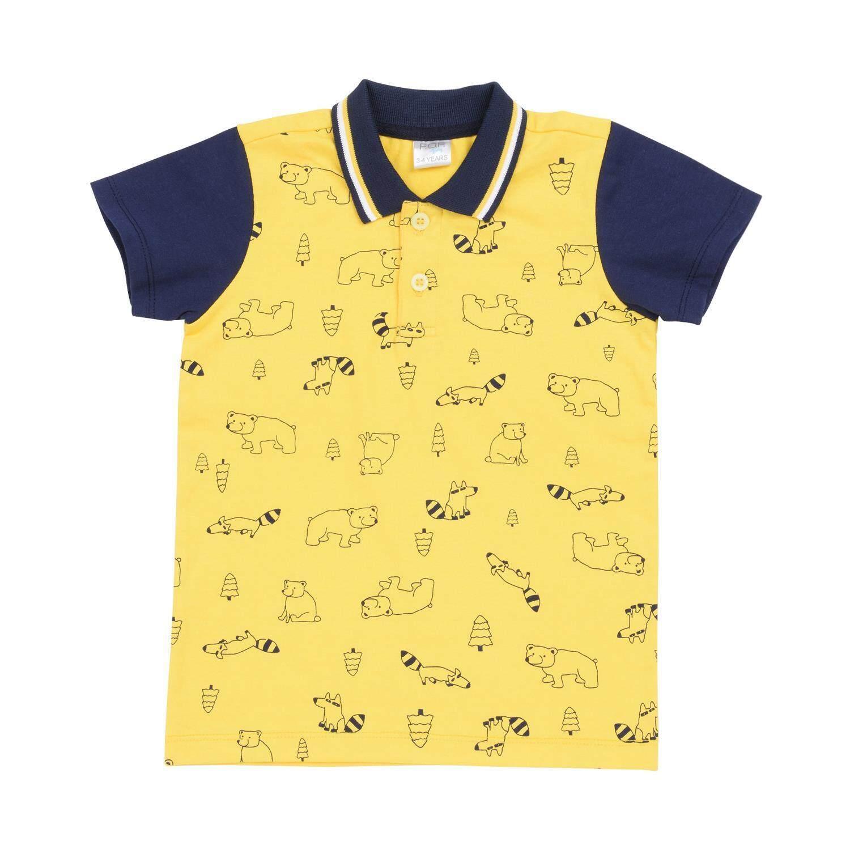 เสื้อโปโลแขนสั้นเด็กผู้ชาย รุ่น FFK128FTPE สีเหลือง ไซส์ 4 ปี