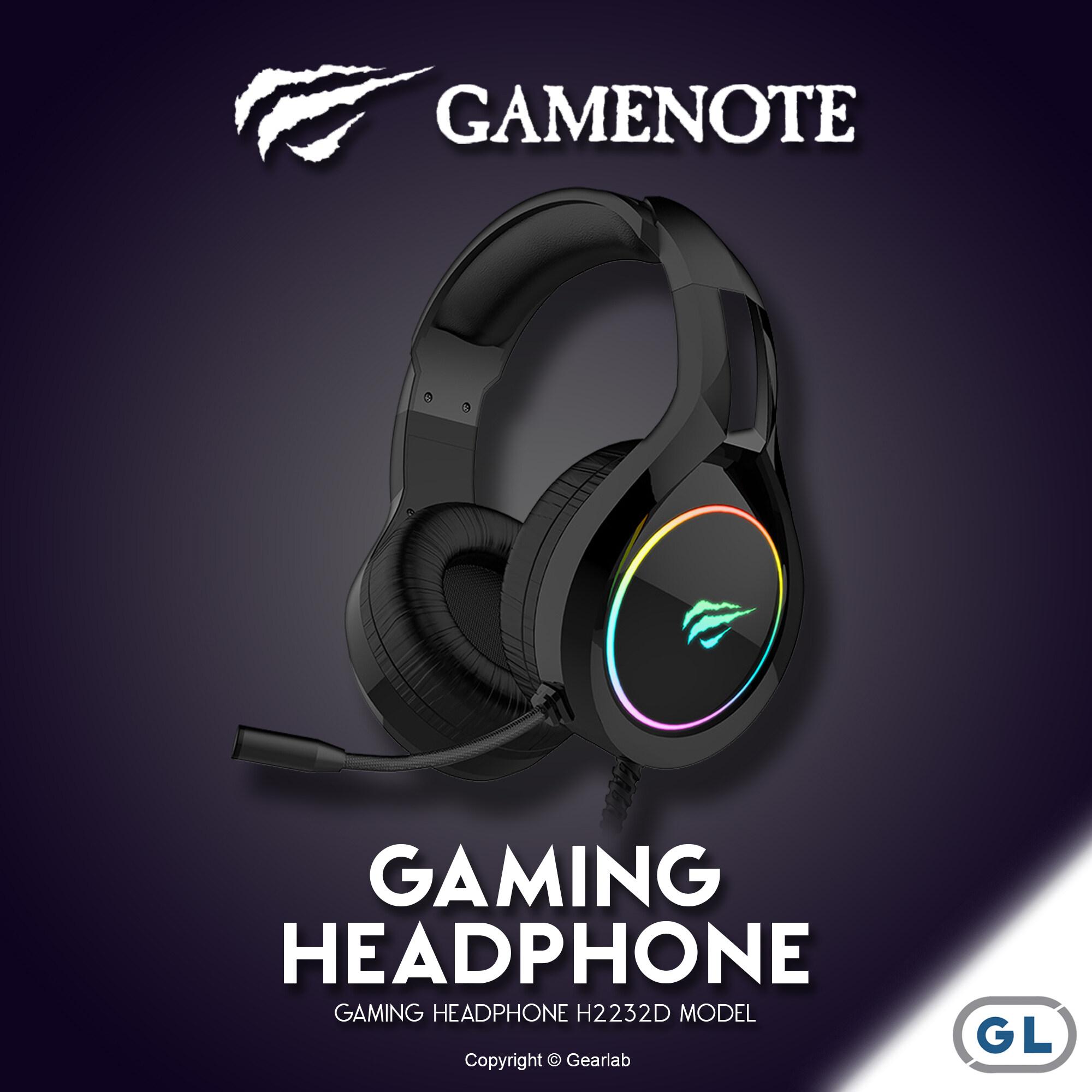 Gamenote Gaming Headphone หูฟังเกมมิ่ง หูฟังเล่นเกมส์สำหรับคอมพิวเตอร์ มีไฟ Rgb Backlit Gh 2232 Havit.