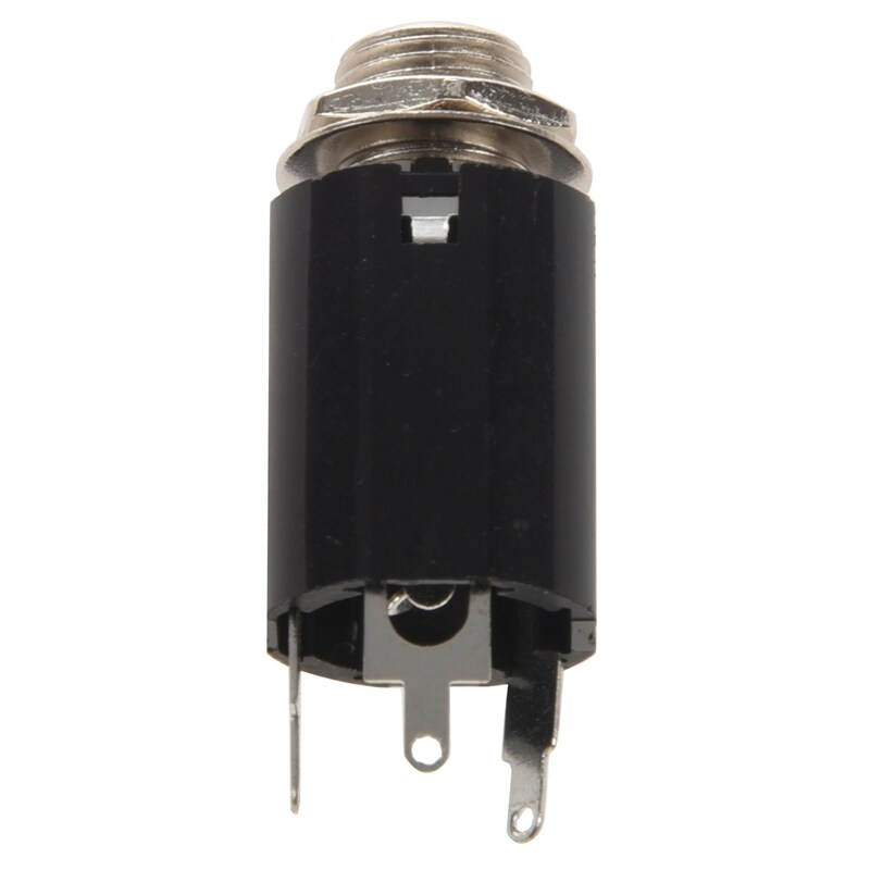 1Pc Black Guitar Endpin Jack 6.35 Input For Any Guitar Eq Pickup Output Guitar Parts & Accessories Malaysia
