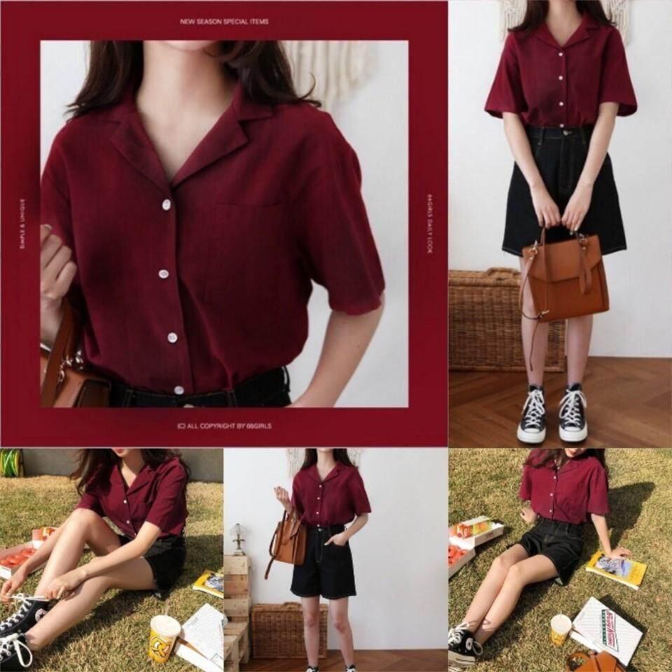 เสื้อเชิ้ตสไตล์วินเทจ สไตล์เกาหลี Hot Item By Iznii Clothing.