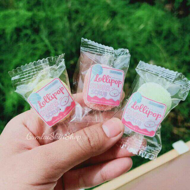 สครับน้ำตาลเมือกหอยทาก 5 เม็ด(คละสี ไม่สามารถเลือกได้)