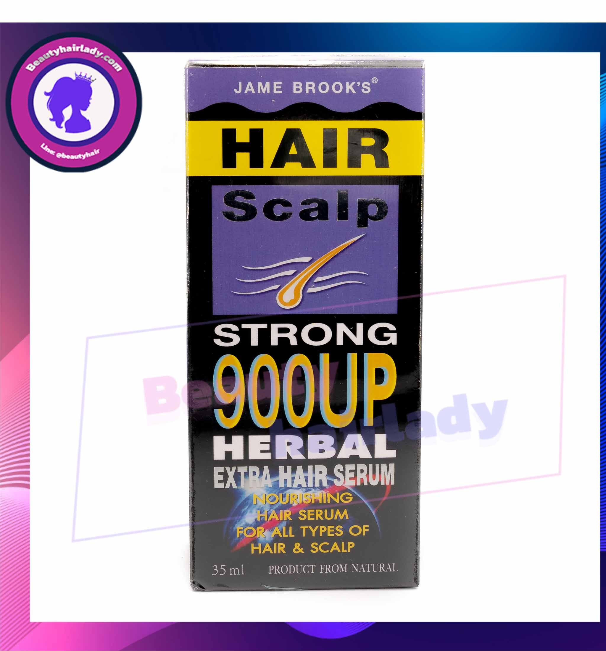 Jame Brooks Hair Serum *เข้มข้น* เจม บรูคส์ แฮร์ เซรั่ม สมุนไพร ปลูกผม บํารุงเส้นผม 35ml.