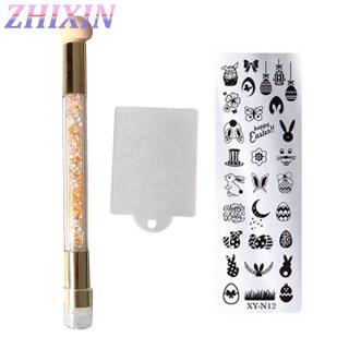 Zhixin 3 Cái Dụng Cụ Cạo Tấm Mẫu Móng Nghệ Thuật Bộ Bút In Vẽ Hai Đầu thumbnail