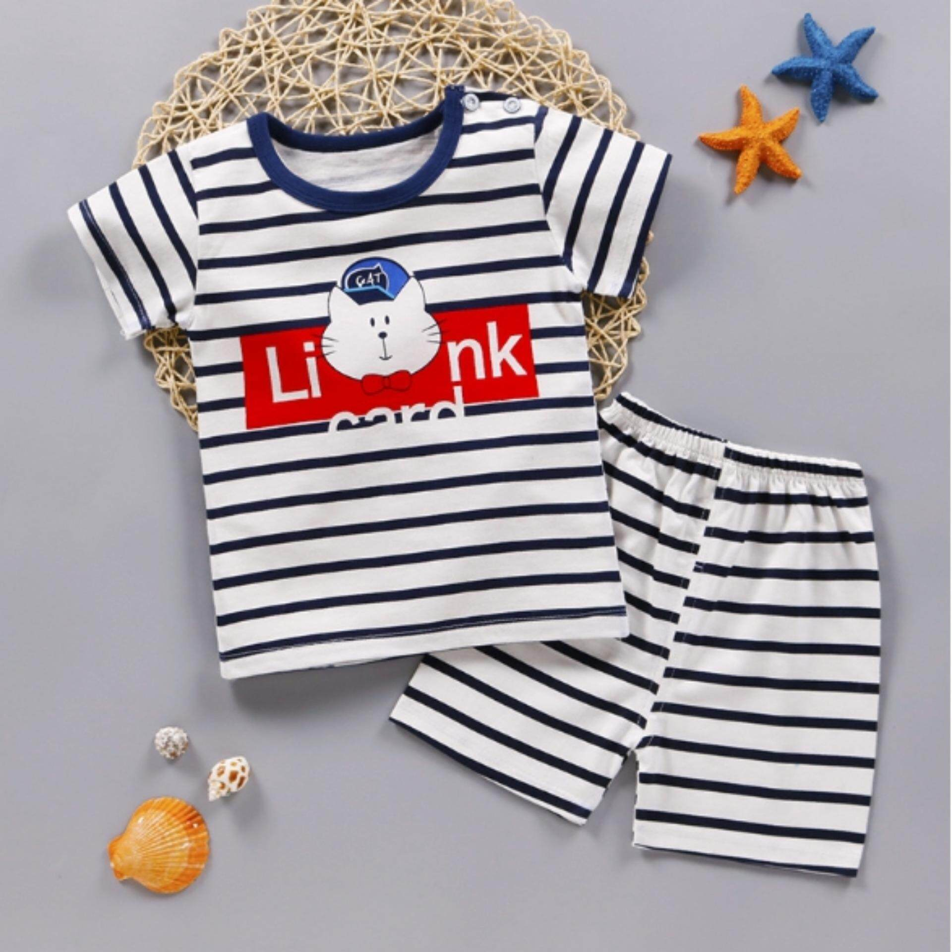 เสื้อยืด+กางเกง ลายการ์ตูนสุดน่ารัก Kids Clothes ผ้านุ่มใส่สบาย ไซส์ 70-140 ซม./6 เดือน-10 ปี By Pae Kids Shop.