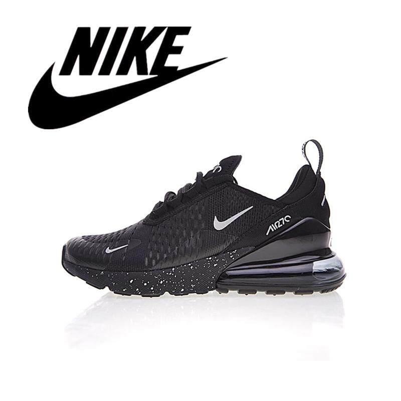 _Nike _Air Max 270 Men's Wearable Running Shoes Outdoor Women's Lightweight Sneakers Breathable Black 36-45#AH8050-202