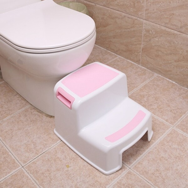 2 Step Stool for Kids - Childrens,Toddler Stool with Slip Resistant Soft Grip for Safety As Bathroom Toilet Potty Training Stool and Kitchen Stepping Stool