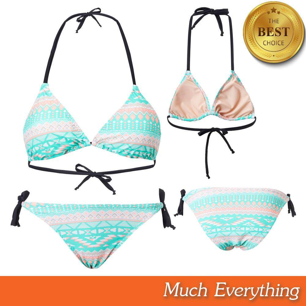 ชุดว่ายน้ำ ผู้หญิง ชุดบิกินี่ Bikini ชุดทูพีช รุ่น Caribbean สีเขียว ผ้ากัน Uv 100% ผลิตจากเนื้อผ้าคุณภาพดี By Much Everything.