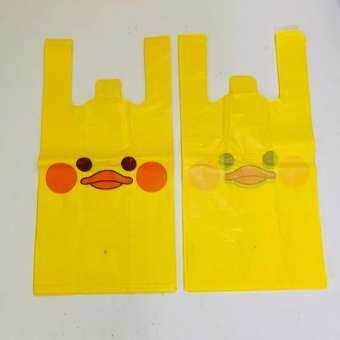 ถุงหูหิ้วพิมพ์ลาย8x16 นิ้ว ถุงใส่สินค้า ถุงพลาสติก มีหลายลายให้เลือก ขาย 5 ห่อ/มัด น้ำหนักรวม 1.2 kg.