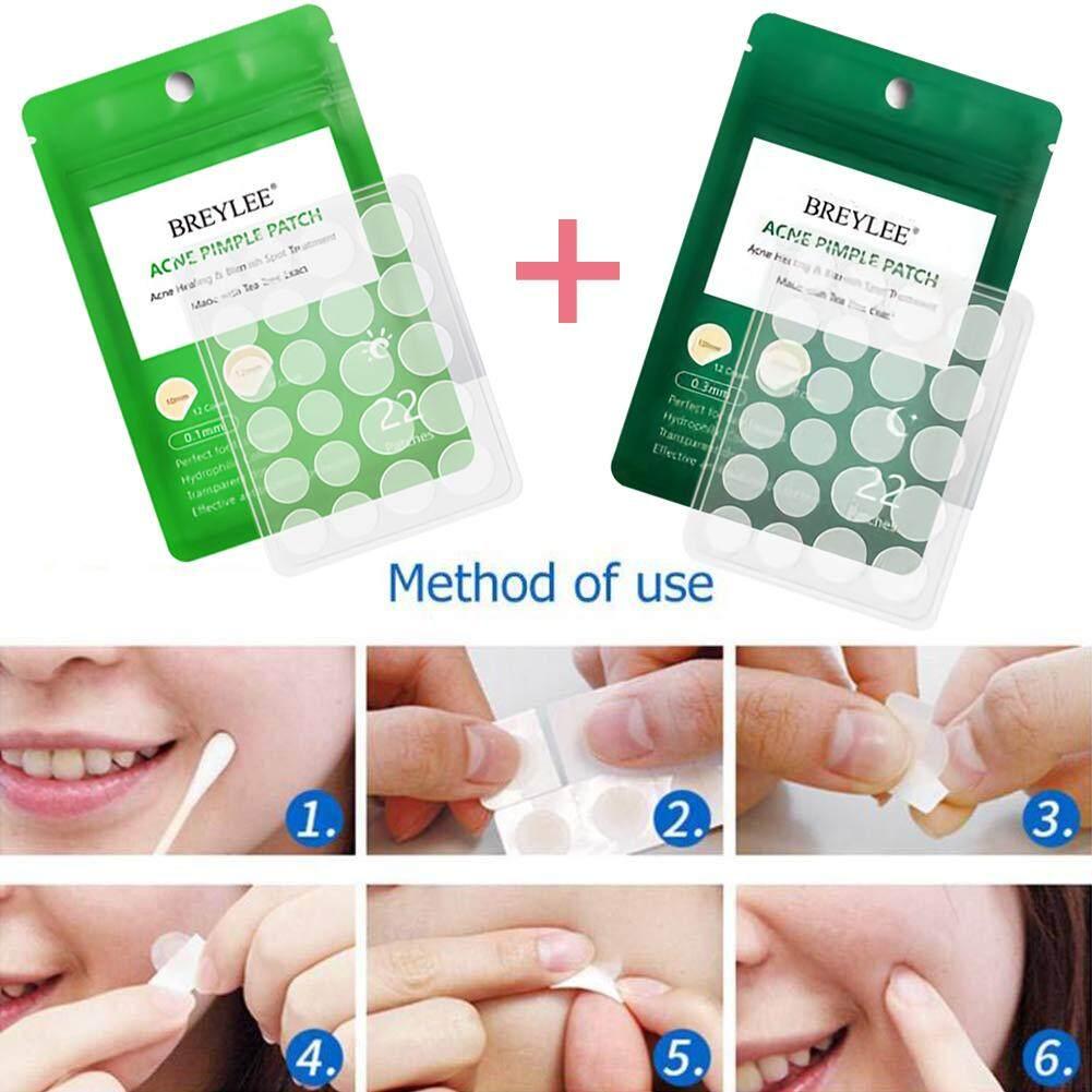 แต้มสิว แผ่นแต้มสิว รักษาสิวอุตัน สิวอักเสบ สูตรต้นไม้ชา ไร้สิว หน้าใส กันน้ำ 22แผ่น Daily-Night Tea Tree Extract Acne Pimple Patch Acne Treatment Stickers Pimple Remover Tool Blemish Spot Skin Care Facial Mask Waterproof 22 Patches