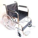 ทบทวน ที่สุด A Bloom Wheelchair รถเข็นผู้ป่วย เหล็กชุบ พับได้ รุ่นมาตรฐาน สีดำ