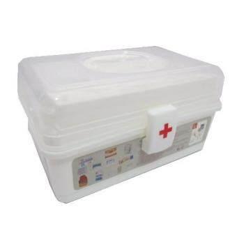 a*bloom กล่องยา ปฐมพยาบาล แบบ 3 ชั้น 3-Level First Aid Kit Box (White)