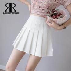 LecRose chân váy nữ Summer đồ bộ nữ Pleated Mini Skirt High Waist Skirt Schoolgirl Korean Style Anti-light Tennis Skirt for Women Plus Size