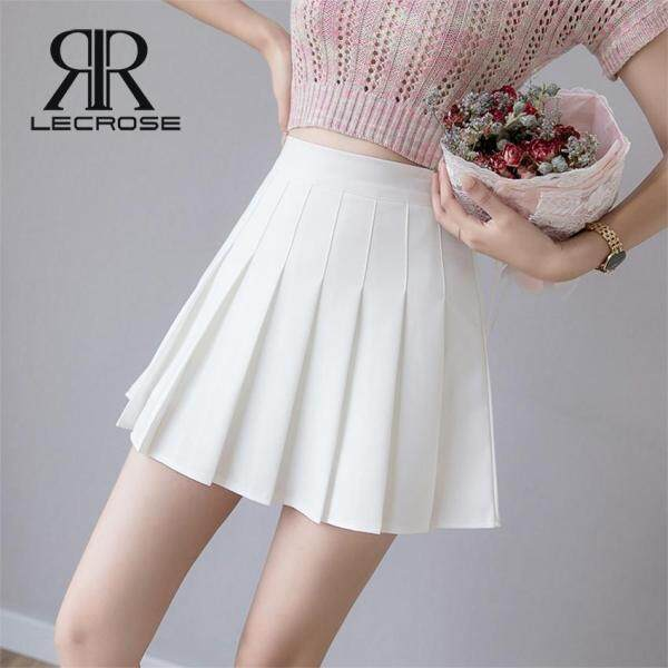 LecRose chân váy nữ Summer đồ bộ nữ Pleated Mini Skirt High Waist Skirt Schoolgirl Korean Style Anti-light Tennis Skirt for Women Plus Size