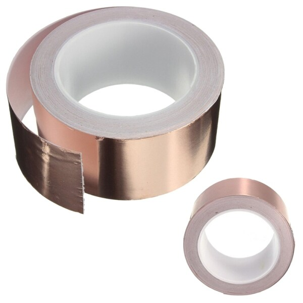 Copper Foil Tape - (50mm x 20m) - EMI Shielding Conductive Adhesive for Stained Glass,Paper Circuits,Electrical Repairs
