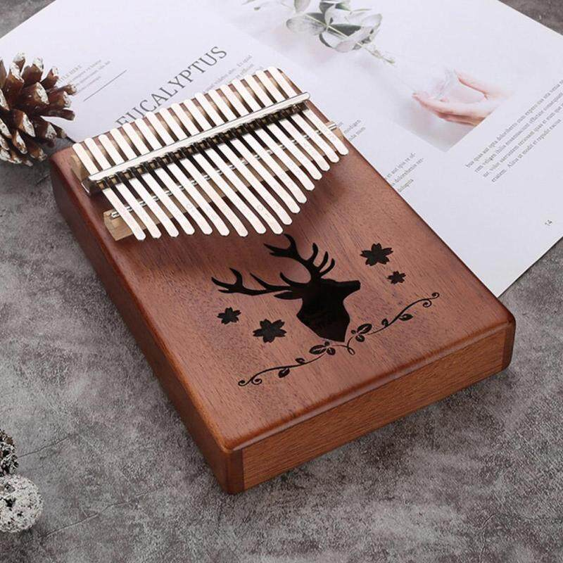 17 Phím Kalimba Đơn Ban Gỗ Gụ Ngón Tay Cái Đàn Piano Mbira Bàn Phím Nhạc Cụ Dụng Cụ
