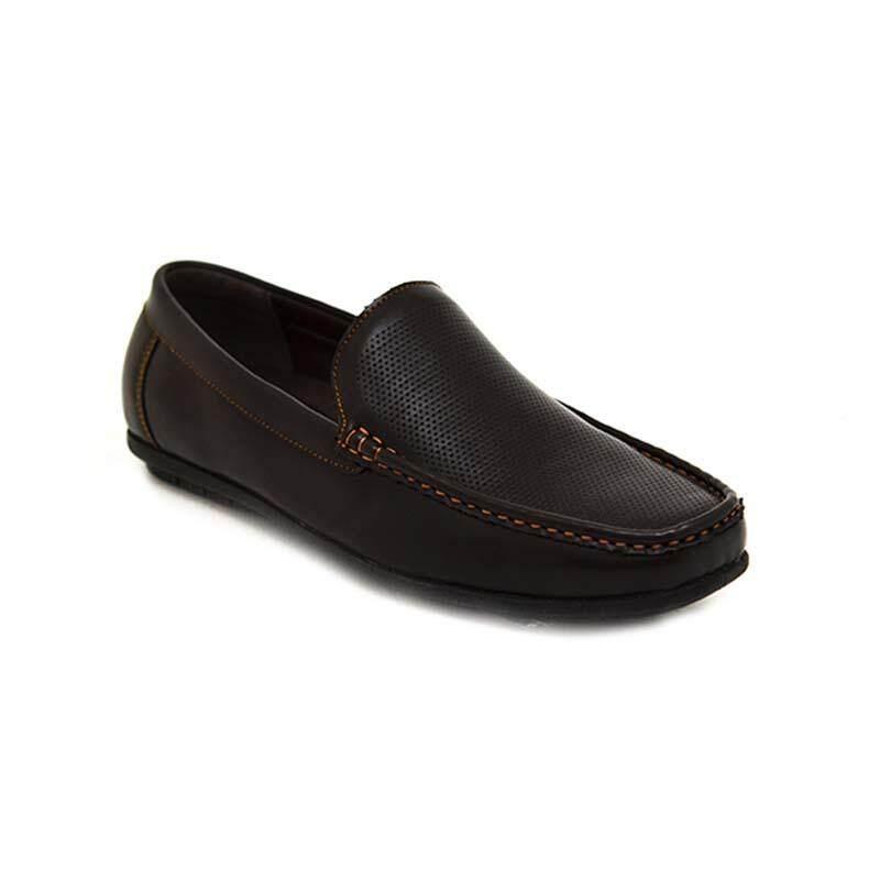 BATA MEN'S CASUAL รองเท้าลำลองผู้ชาย MOCCASIN แบบสวม สีดำ รหัส 8516149 / สีน้ำตาล รหัส 8514149