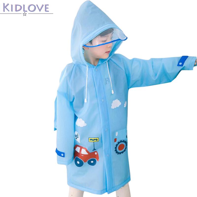 Kidlove Kids Girls Boys Raincoat Infants Wide Brim Raincoat Baby Nursery Students Rainwear.