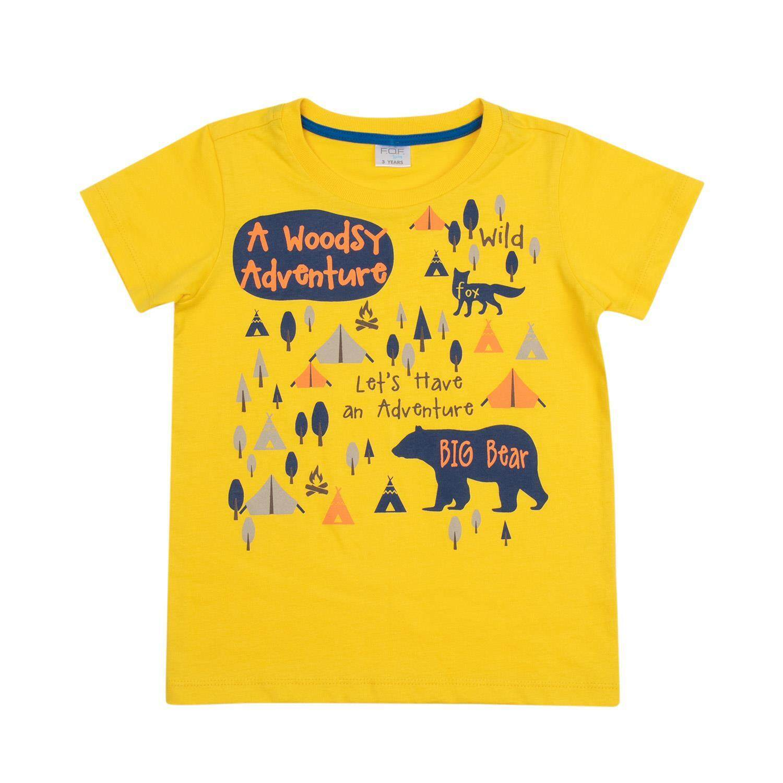 เสื้อยืดเด็กผู้ชาย รุ่น FFK118FTAE07 สีเหลือง ไซส์ 1 ปี
