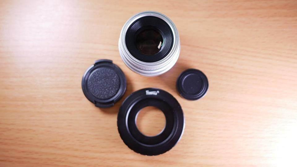 เลนส์มือหมุน Fujian 35mm F1.6 Mark Iii สีเงิน.