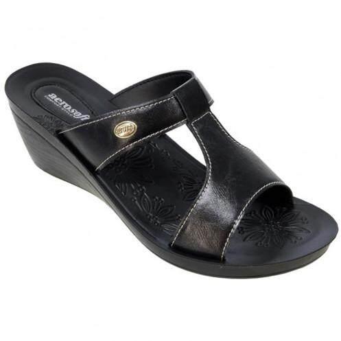 แอโร่ซอฟ รองเท้าแตะสตรี สีดำ ไซส์ 36