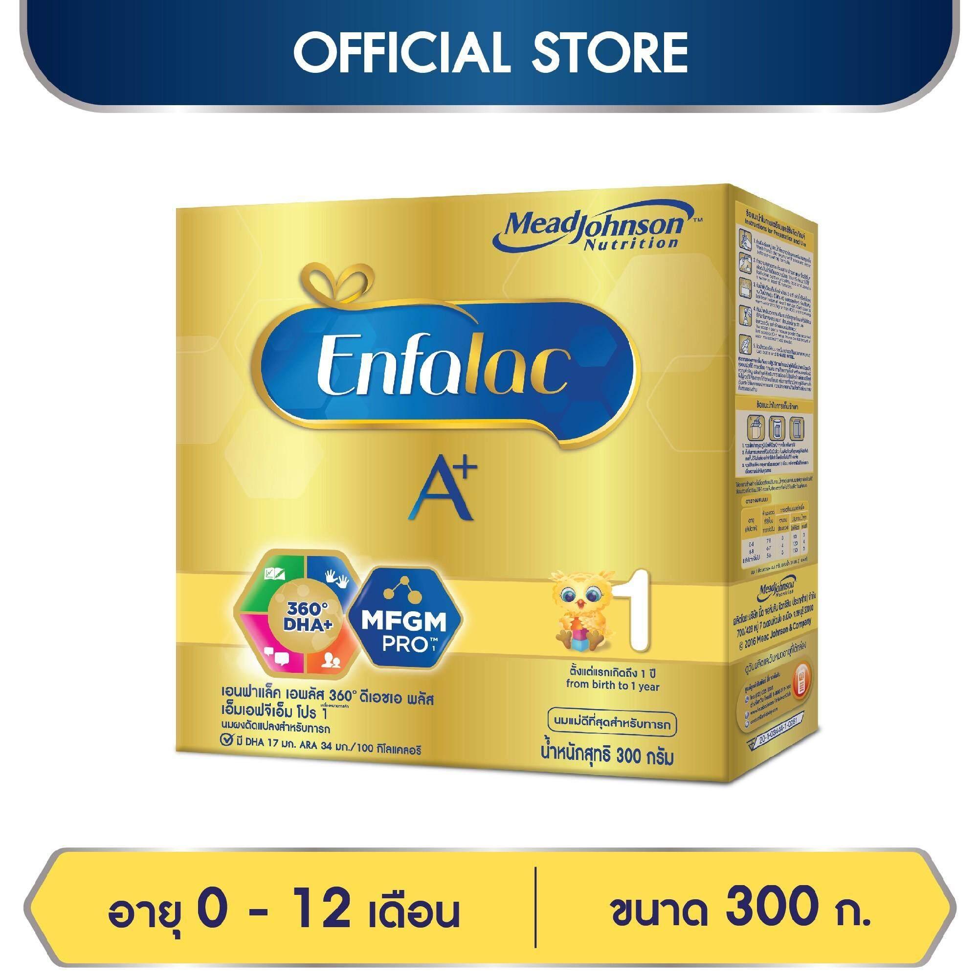 ซื้อ  นมผง Enfalac เอนฟาแล็ค เอพลัส สูตร 1 สำหรับ ทารก เด็กแรกเกิด เด็กเล็ก 300 กรัม   ราคา ของแท้