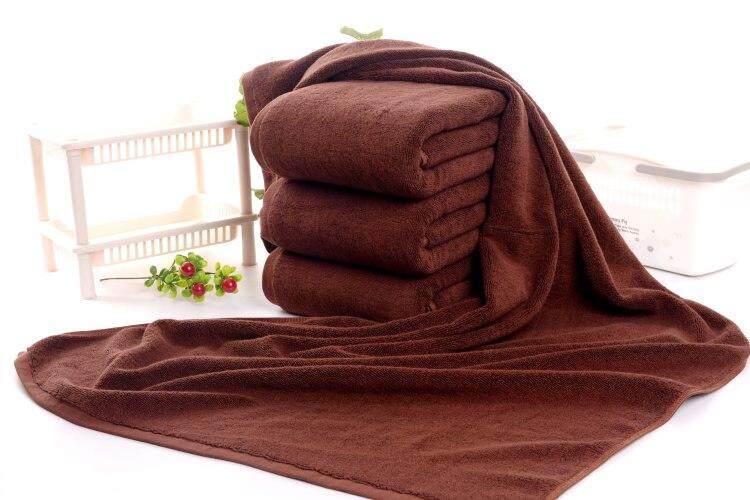 ผ้าเช็ดตัวขนหนูโรงแรม ขนาด 30*60 นิ้ว สีน้ำตาลแก่.