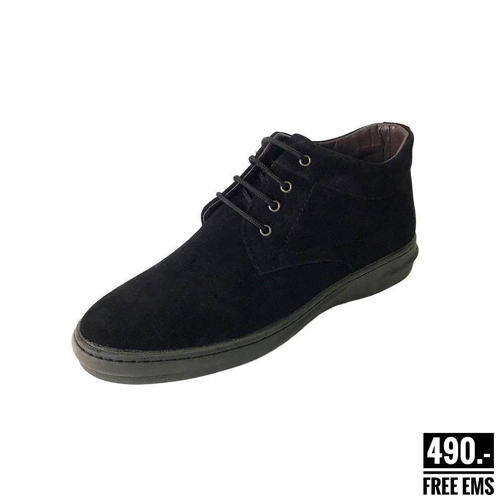 รองเท้าบูทผู้ชาย Fashion931 สีดำ รองเท้าบูทหนังกลับ รองเท้าหนังหุ้มข้อชาย รองเท้าบูทกำมะหยี่ผู้ชาย รองเท้าบูทคาวบอย รองเท้าเชคโก.