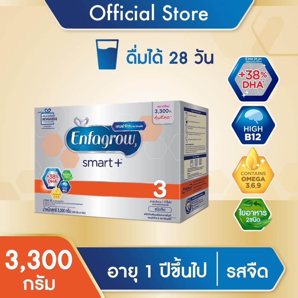 ต้องการซื้อ  [นมผง] Enfagrow เอนฟาโกร สมาร์ทพลัส สูตร 3 รสจืด สำหรับ เด็ก 3300 กรัม   รีวิว ของแท้