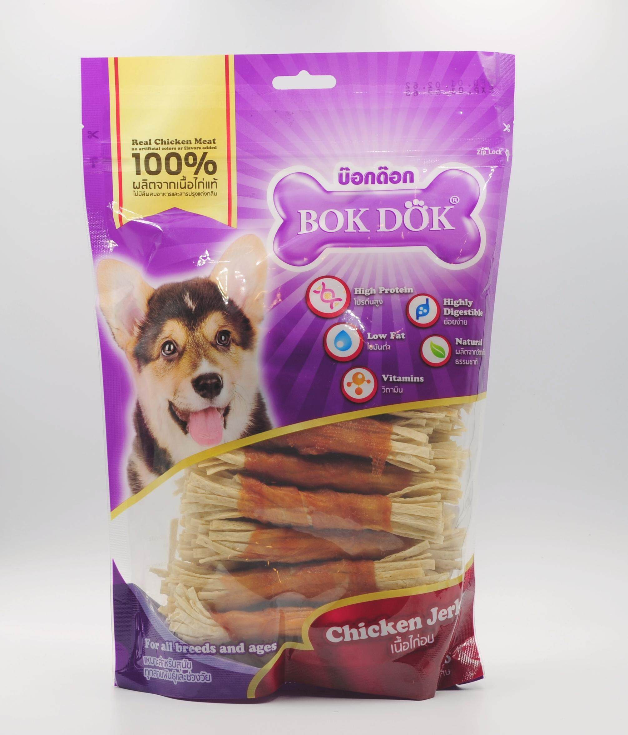 Bok Dok Ck87 K ไก่พันปลาเส้น 30 ชิ้น / Chicken Wrapped Fish Snack 30 Pcs. By Happy Paws Pet Shop.