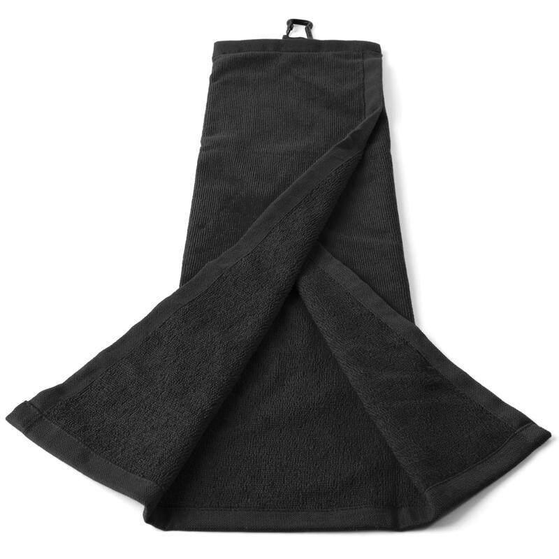 ผ้าเช็ดไม้กอล์ฟ ผ้าขนหนูเช็ดอุปกรณ์กอล์ฟ ผ้าขนหนู รุ่นนี้สำหรับการทำความสะอาดไม้กอล์ฟและลูกกอล์ฟ ยาว 52 ซม. กอล์ฟ ผ้าทอเนื้อบางที่ด้านนอกใช้สำหรับเช็ดมือ ส่วนผ้าทอเนื้อหนาข้างใต้ใช้ทำความสะอาดลูกกอล์ฟและหัวไม้กอล์ฟ.