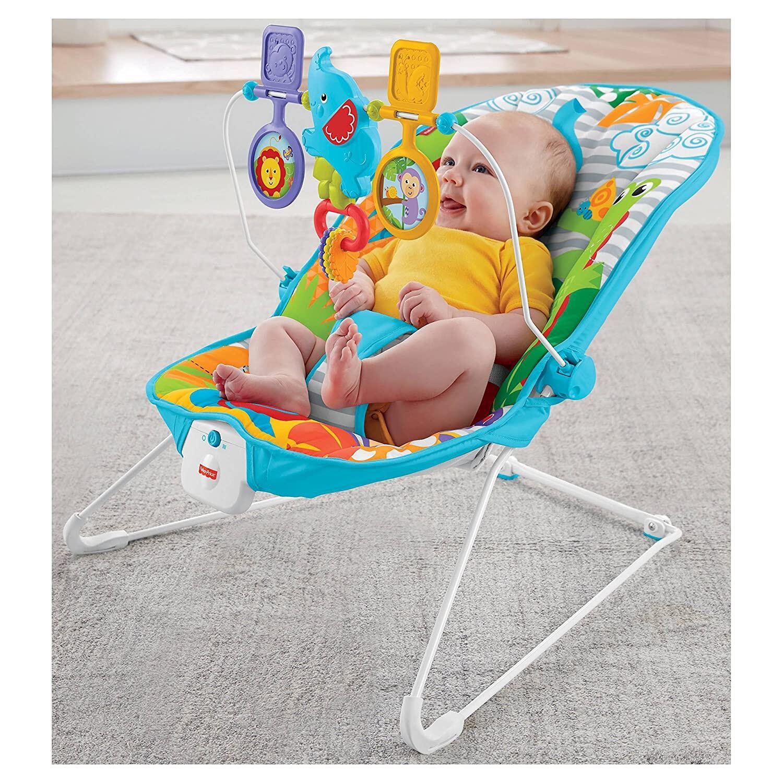 เปลสั้น เปลโยก เปลไกว Fisher-Price Animal Kingdom Baby Bouncer เปลสั่น ที่นอนของเล่นเด็ก ฟิชเชอร์ไพรส์ พิชเชอร์