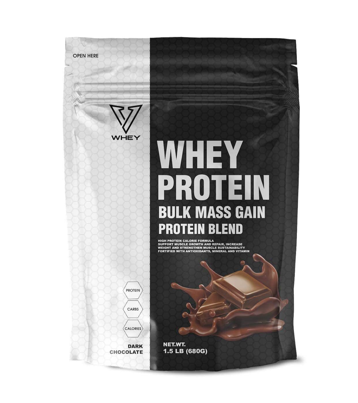 V Whey protein เวย์โปรตีนเพิ่มน้ำหนัก สำหรับคนผอมที่ต้องการเพิ่มน้ำหนัก (รสช็อกโกแลต) ทานได้ทั้งผู้หญิงและผู้ชาย ส่งฟรี Kerry