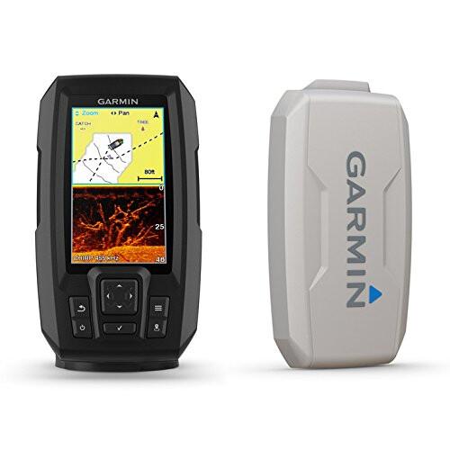 4 inches Garmin 010-01870-00 Striker Plus 4 with Dual-Beam transducer
